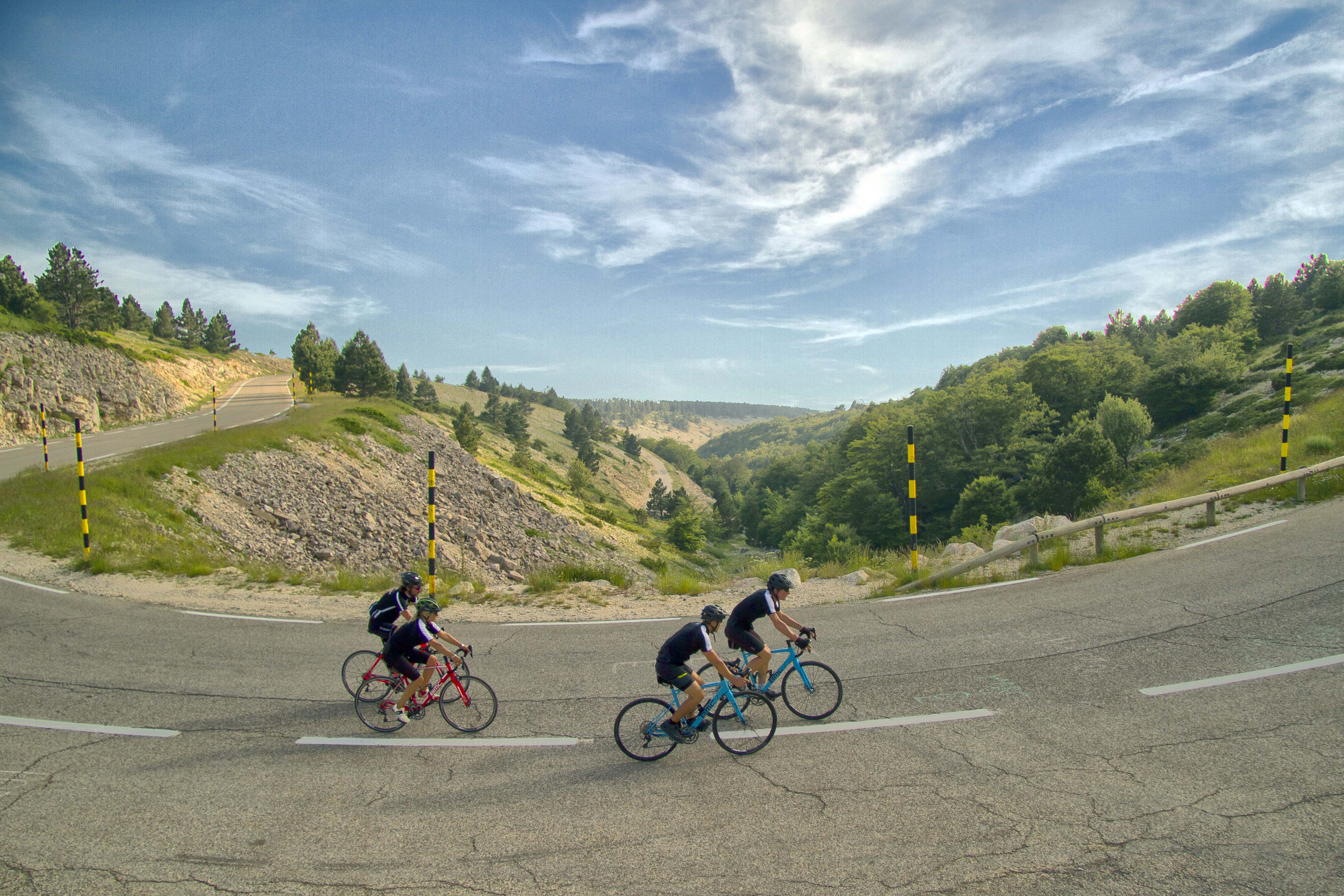 Road cycle in Mont Ventoux